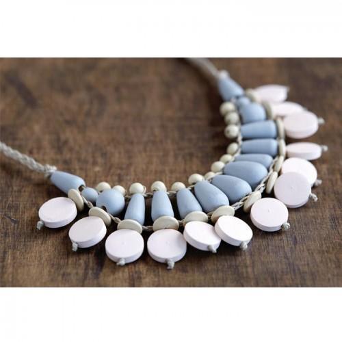 20 wood beads drops 15 x 7,5 mm