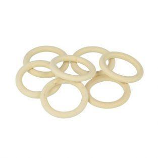 7 anneaux en bois 30 mm
