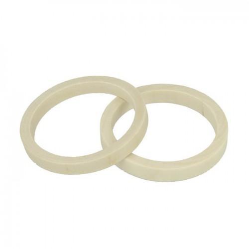 2 round wood bracelets 6,8 cm