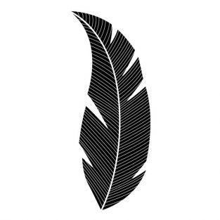 Tampon bois Feuille 5,7 x 2,6 cm