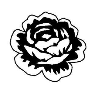 Tampon bois Rose 3,7 x 4 cm