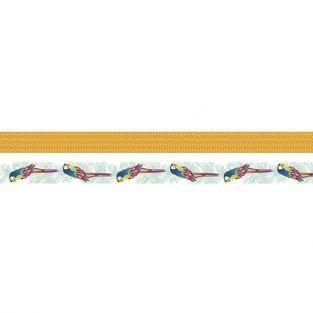 2 masking tapes jungle 5 m x 1,5 cm - Perroquet