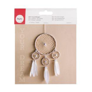 Dream Catcher DIY Kit  - beige & white