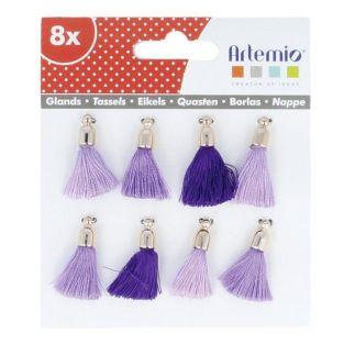 8 blue-purple tassels