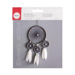 Dream Catcher DIY Kit  - white & gray