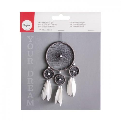 Kit DIY Attrape-rêves blanc et gris