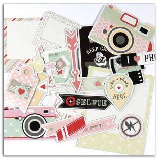 20 formes découpées pour scrapbooking Photographie - Clic Clac