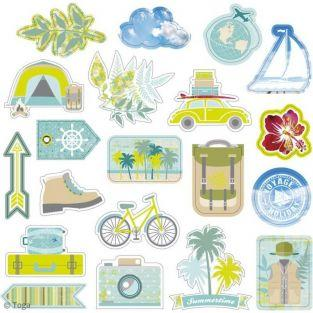 20 cut shapes for scrapbooking Aventurer - Escapade