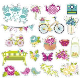 20 cut shapes for scrapbooking - Sunday in the countryside