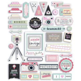 44 formes découpées pour scrapbooking Photographie - Clic Clac