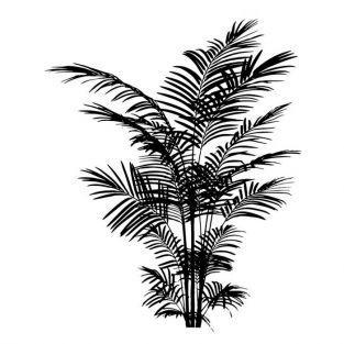 Tampon bois Fougère 6 x 5 cm