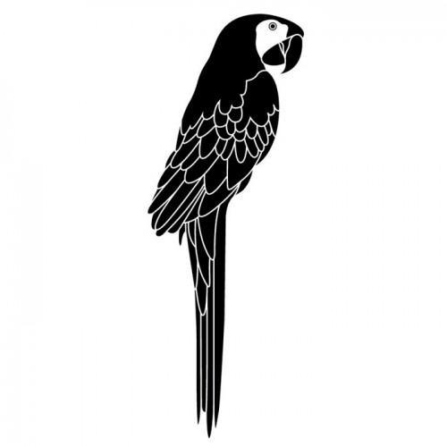 Tampon bois Perroquet 3,7 x 8,5 cm