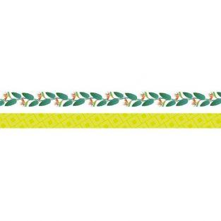 2 masking tapes jungle 5 m x 1,5 cm - Oiseau du paradis