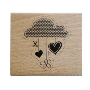 Sello de madera - Nube