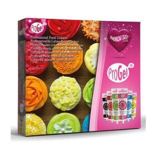 Coffret 6 colorants en gel alimentaires ProGel