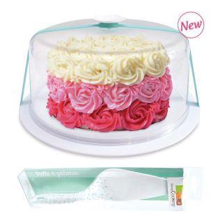 Cloche à gâteaux Ø 28,5 cm + pelle à gâteau