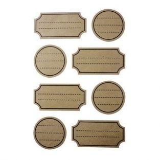 96 stickers kraft avec pointillés