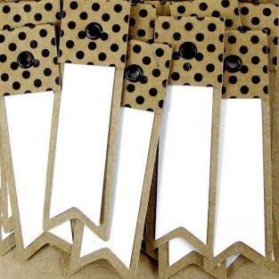 100 kraft labels with dots - Pennant