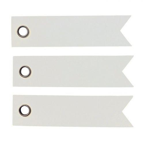 100 étiquettes blanches - Fanion