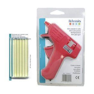 Mini pistola de pegamento + 14 recargas