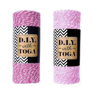 2 cordeles bicolores 100 m - fucsia y rosa