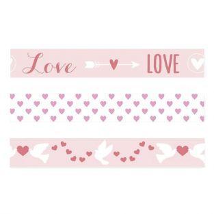 3 cintas adhesivas San Valentín - Love