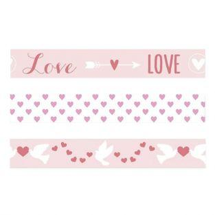 3 masking tapes St Valentin - Love