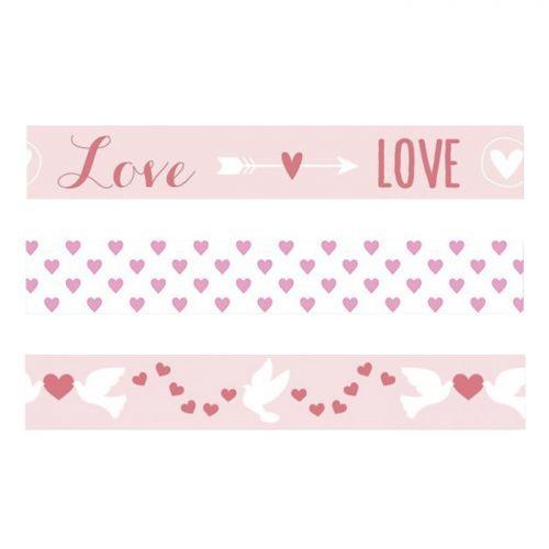 3 masking tapes St Valentin - Love