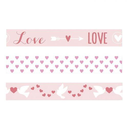 3 St Valentine's Day masking tapes - Love