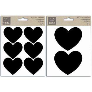 32 stickers slate Hearts kit