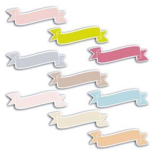 72 formes découpées bannières 8 cm