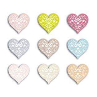72 Heart shapes cut 4 cm