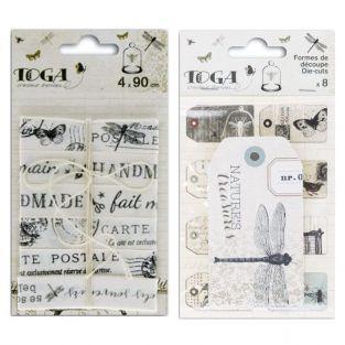 Kit rubans Cabinet de curiosités & Etiquettes animaux vintage