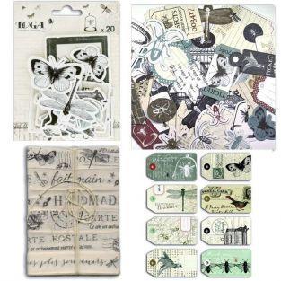 Kit étiquettes & rubans Cabinet de curiosités