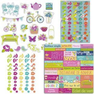 Sunny Sunday Cut-outs & stickers kit