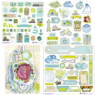 Escapade Cut-outs & stickers kit