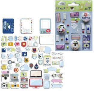 Be Connected Embellishments & Cutouts kit