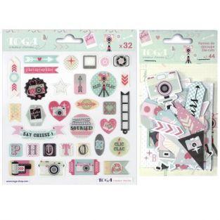 Clic Clac Die-cuts & Epoxy stickers kit