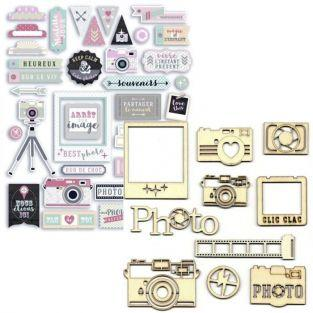 Clic Clac Die-cuts & Wooden shapes kit