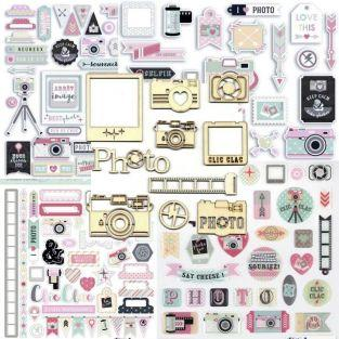 Clic Clac Die-cuts & Stickers kit