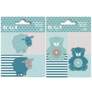 40 blue sheeps & teddies Die-cuts