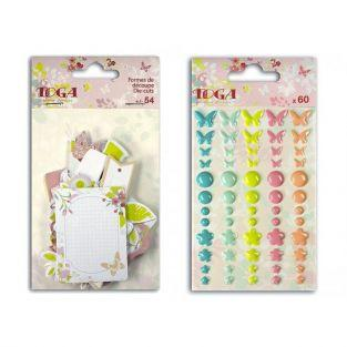 Kit de stickers et formes découpées Jardin Secret