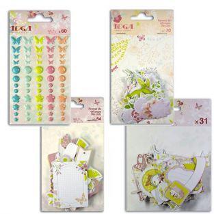 Kit de stickers et formes découpées Jardin & forêt