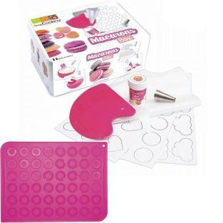 Coffret de préparation + tapis silicone pour Macarons
