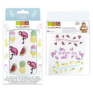 Tropical Birthday Kit - sweet & wafer decorations