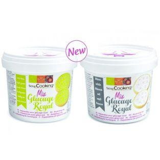 Royal icing mix - White 190 g + Green 190 g
