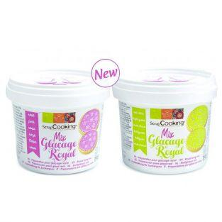 Royal icing mix - Green 190 g + Pink 190 g