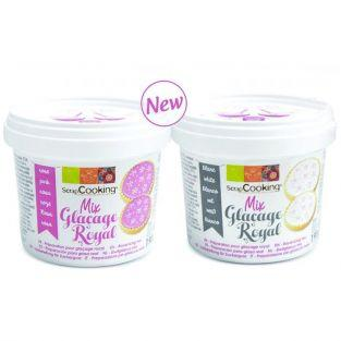 Royal icing mix - White 190 g + Pink 190 g