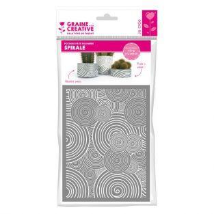 Plantilla 11,4 x 15,3 cm para arcilla de polímero FIMO - Espiral