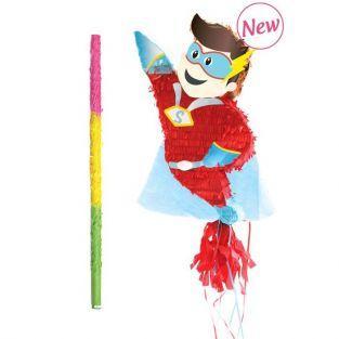 Piñata Super Hero + Stick
